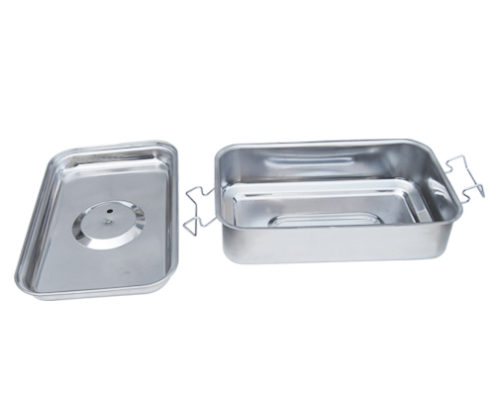 Stainless steel deep drawn box for smoker oven